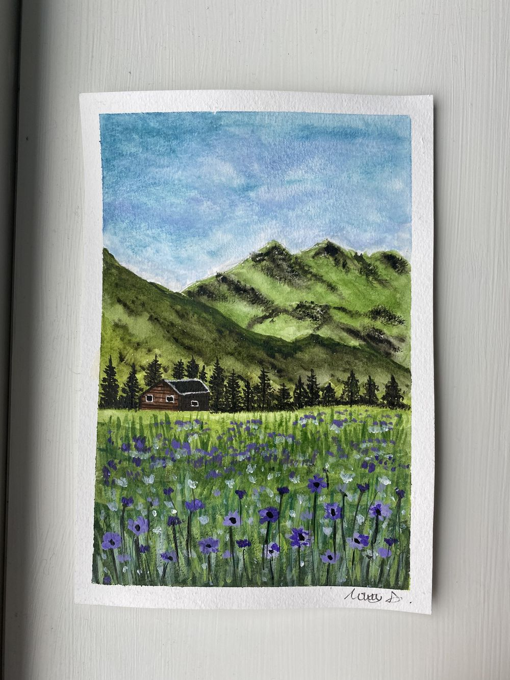 Violet Meadow and Red Blooms - image 2 - student project