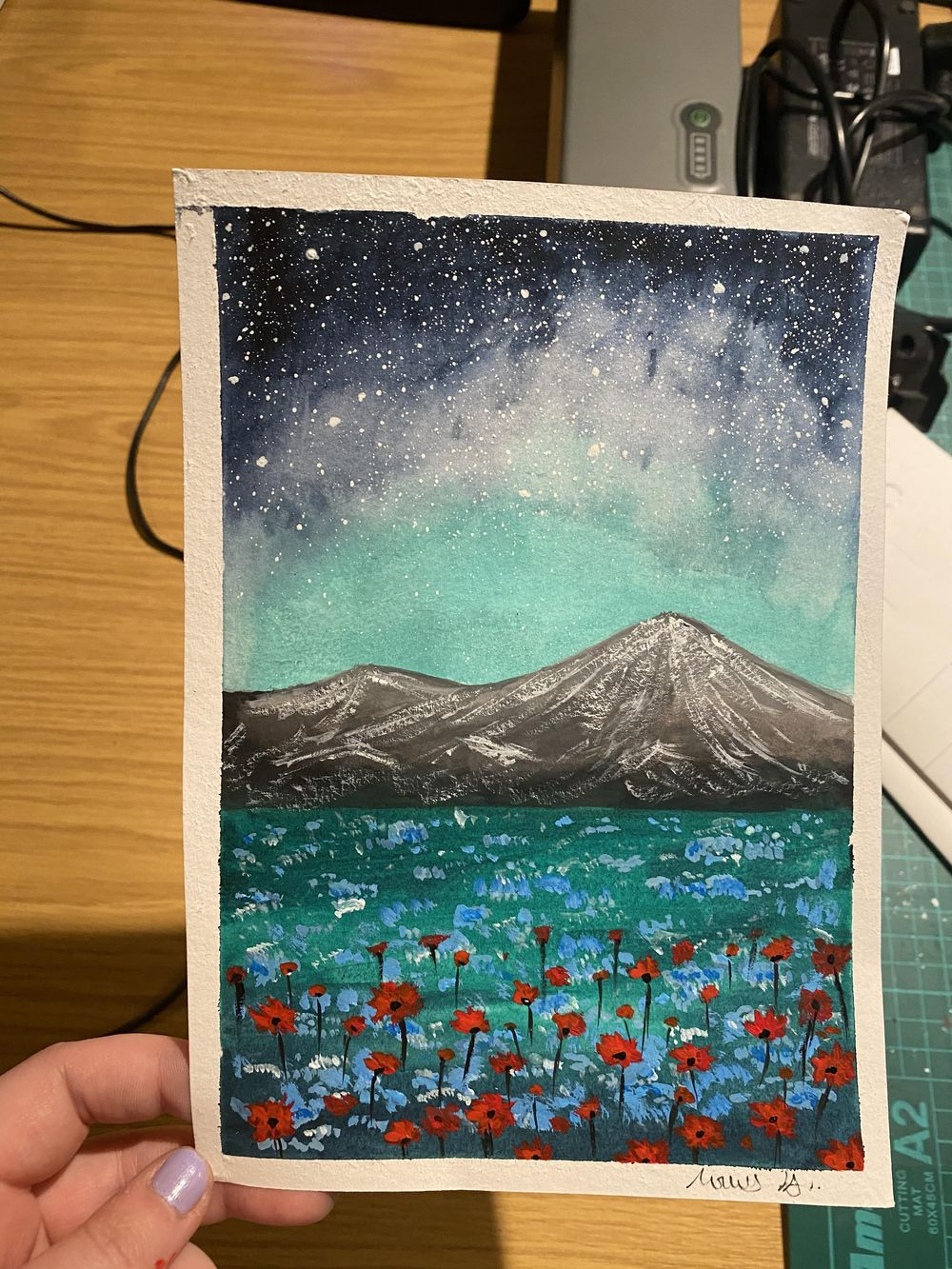 Violet Meadow and Red Blooms - image 1 - student project