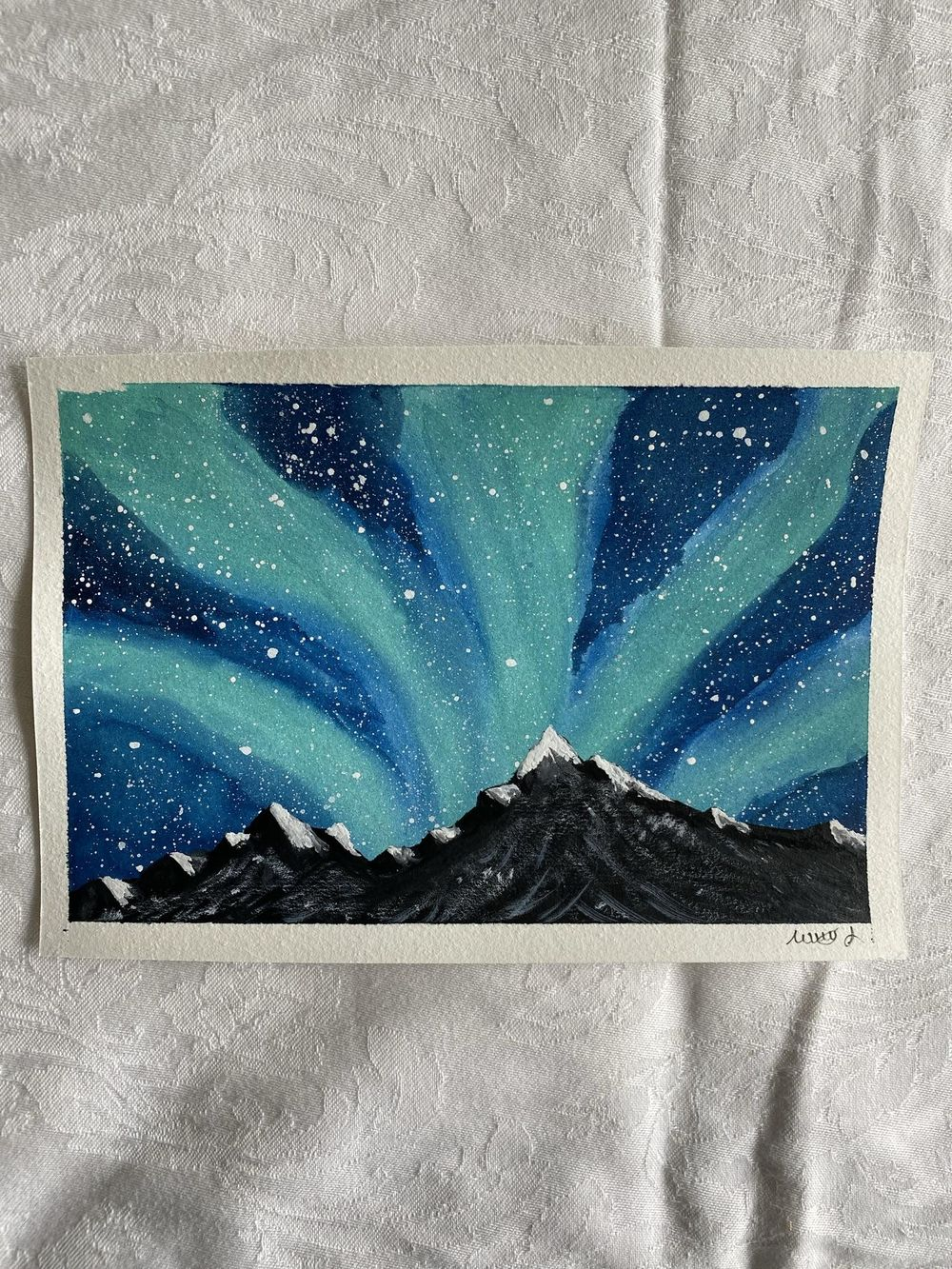 Mountains in the northern lights - image 1 - student project