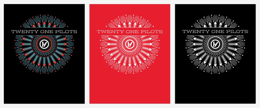 Twenty One Pilots: Band Tee Design - image 4 - student project