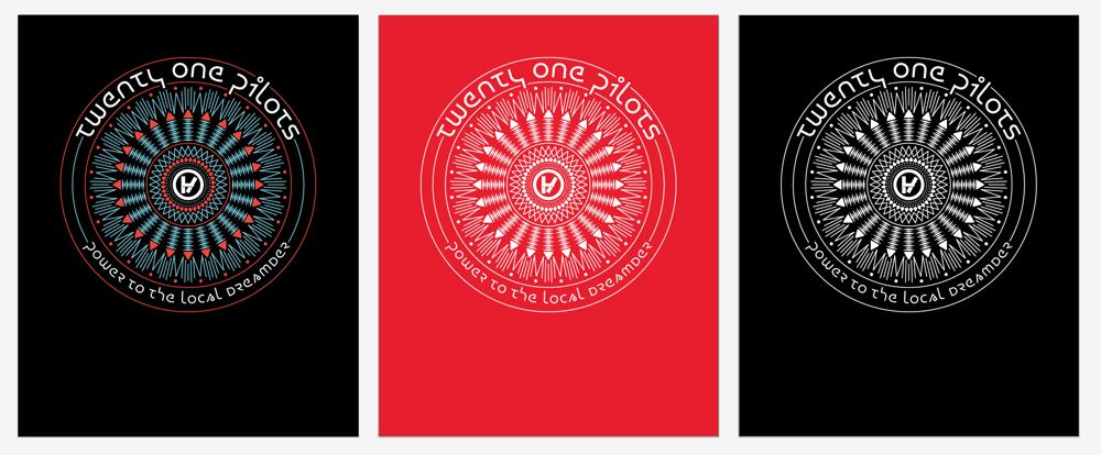 Twenty One Pilots: Band Tee Design - image 2 - student project