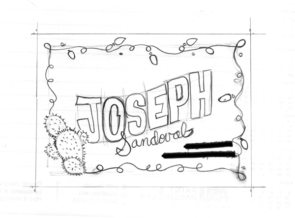 Holiday Hand Lettered Envelope Project - image 1 - student project