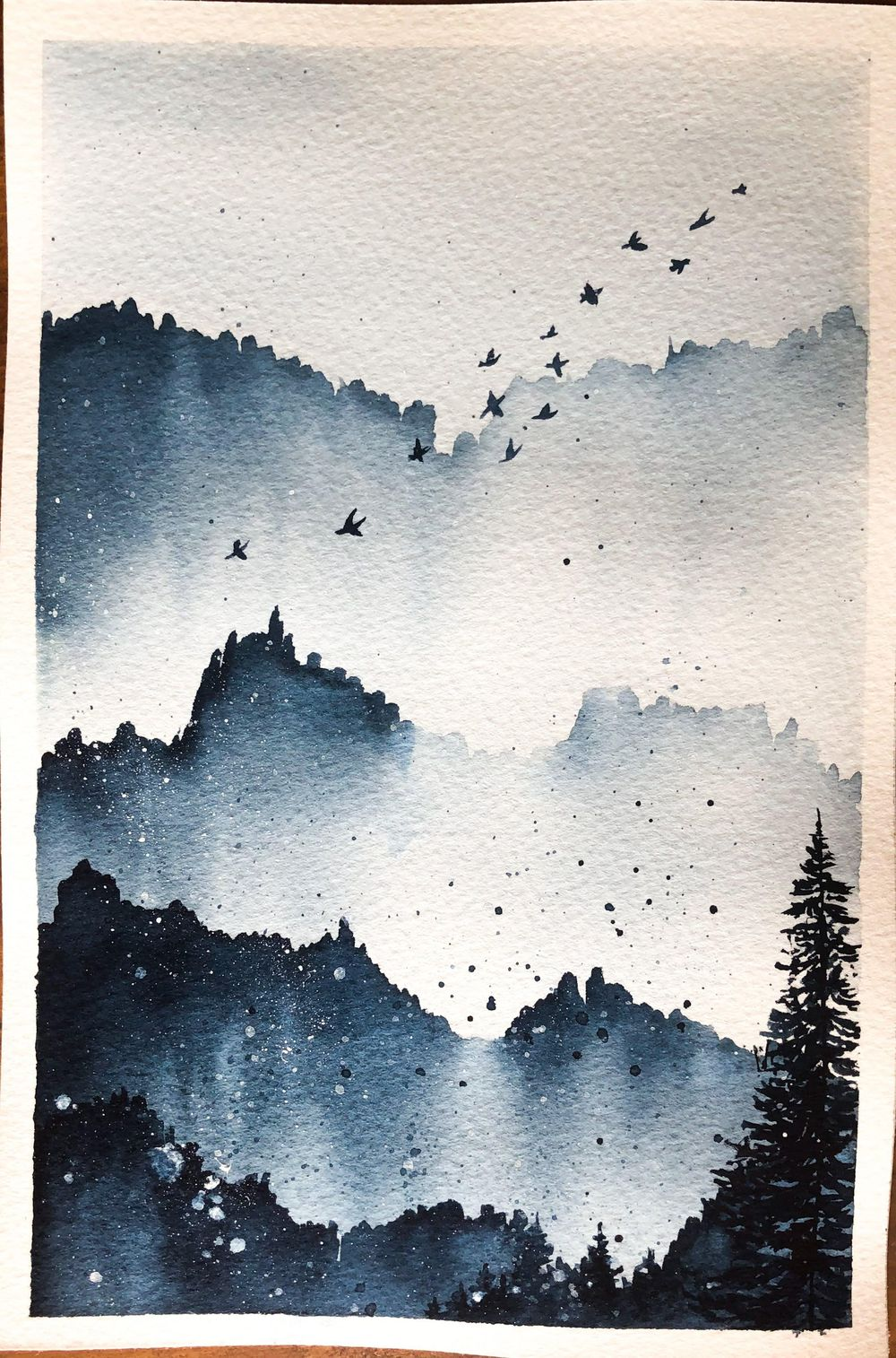 Serene Landscapes Watercolour - image 1 - student project