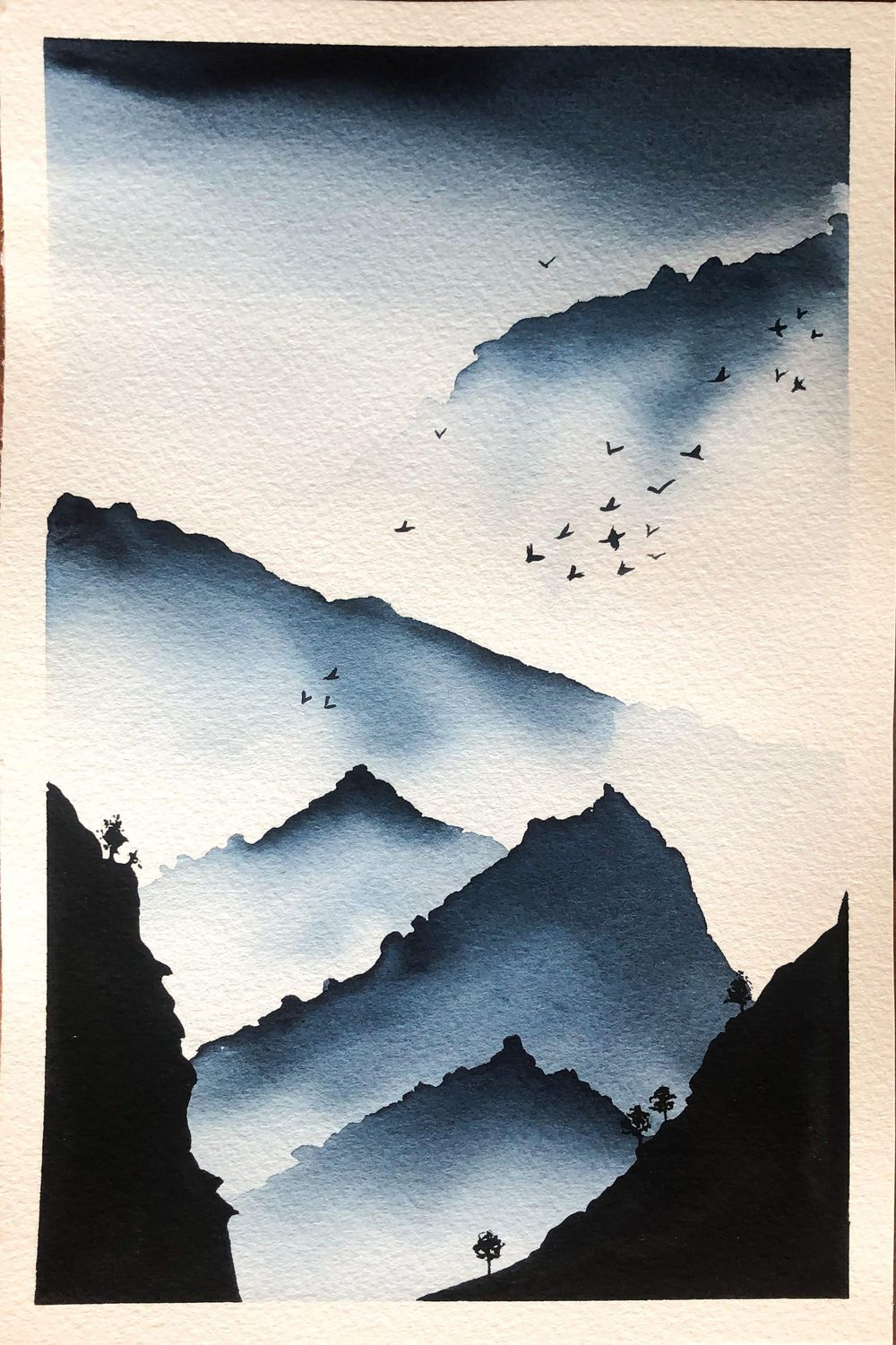 Serene Landscapes Watercolour - image 3 - student project