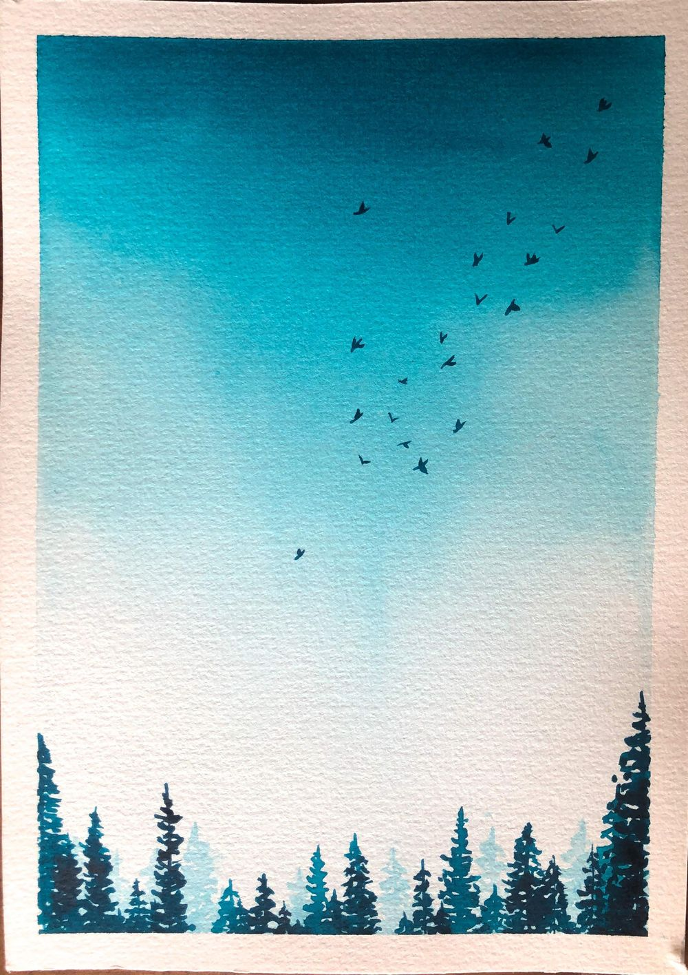 Serene Landscapes Watercolour - image 4 - student project