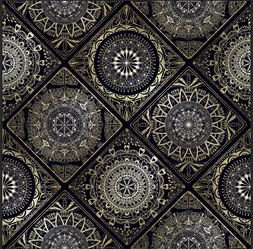 Gold and Black Tiles - image 1 - student project