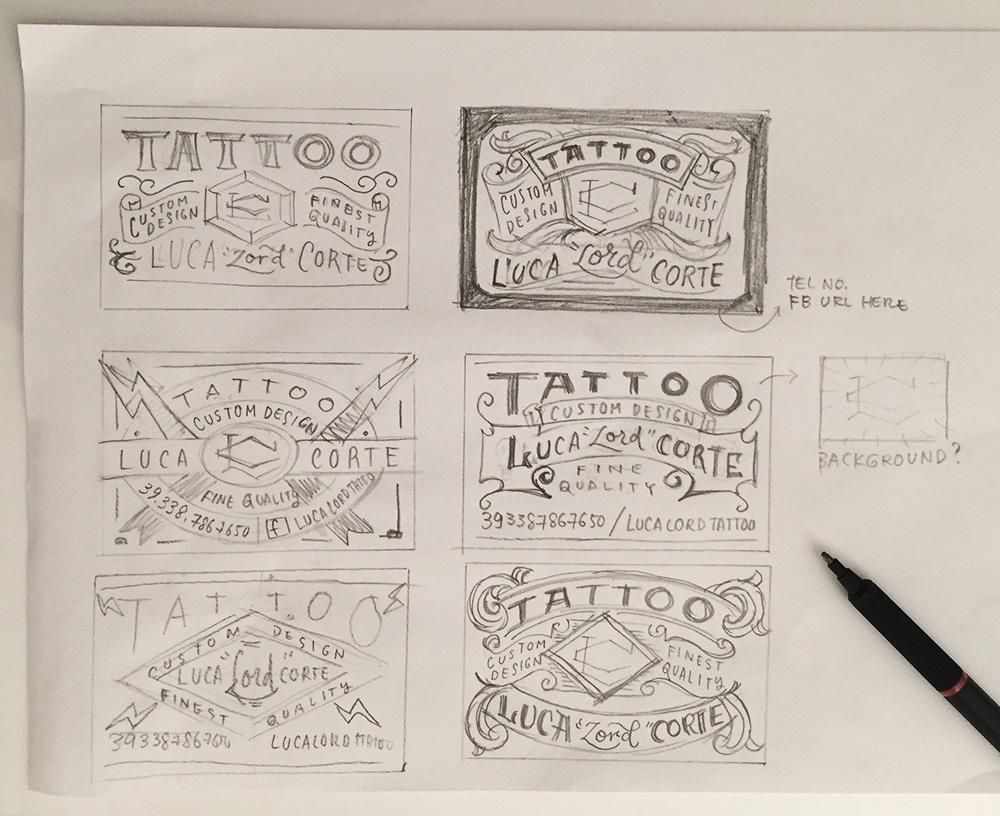 Tattoo Business Card - image 4 - student project