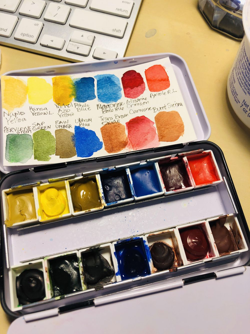 Watercolor Palette Set Ups/Swatches - image 4 - student project