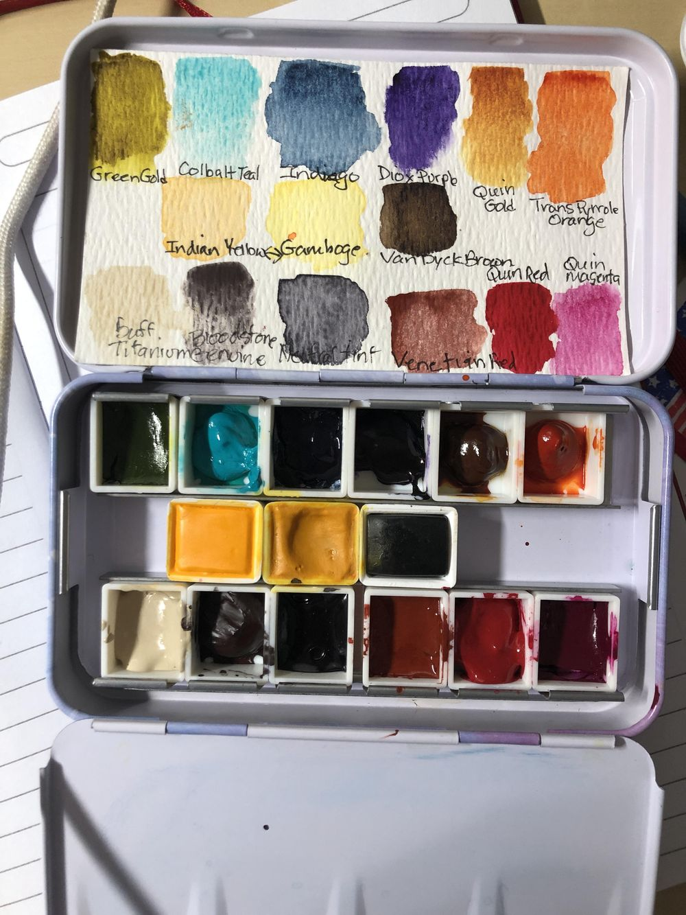 Watercolor Palette Set Ups/Swatches - image 6 - student project
