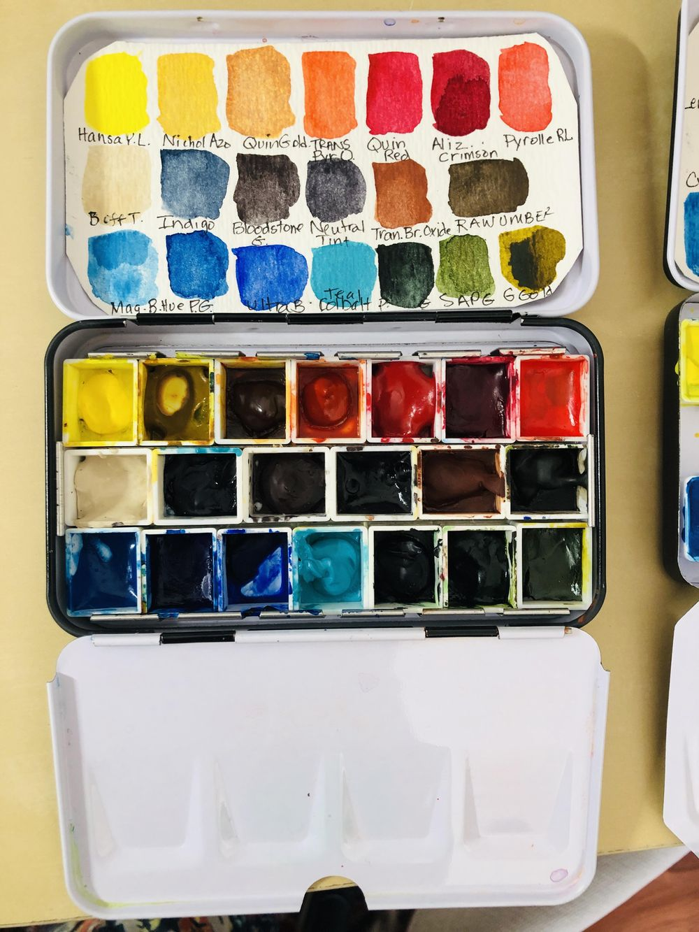 Watercolor Palette Set Ups/Swatches - image 2 - student project