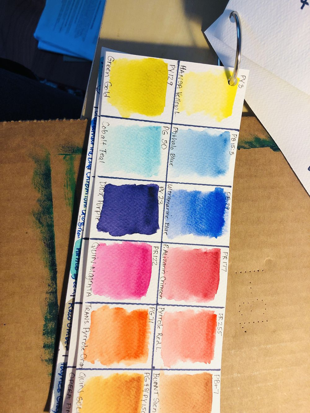 Watercolor Palette Set Ups/Swatches - image 7 - student project