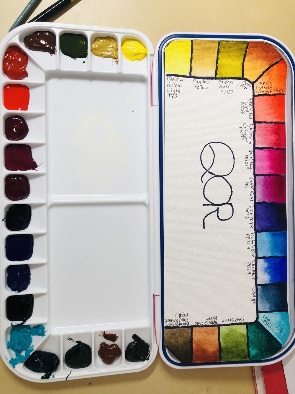 Watercolor Palette Set Ups/Swatches - image 1 - student project