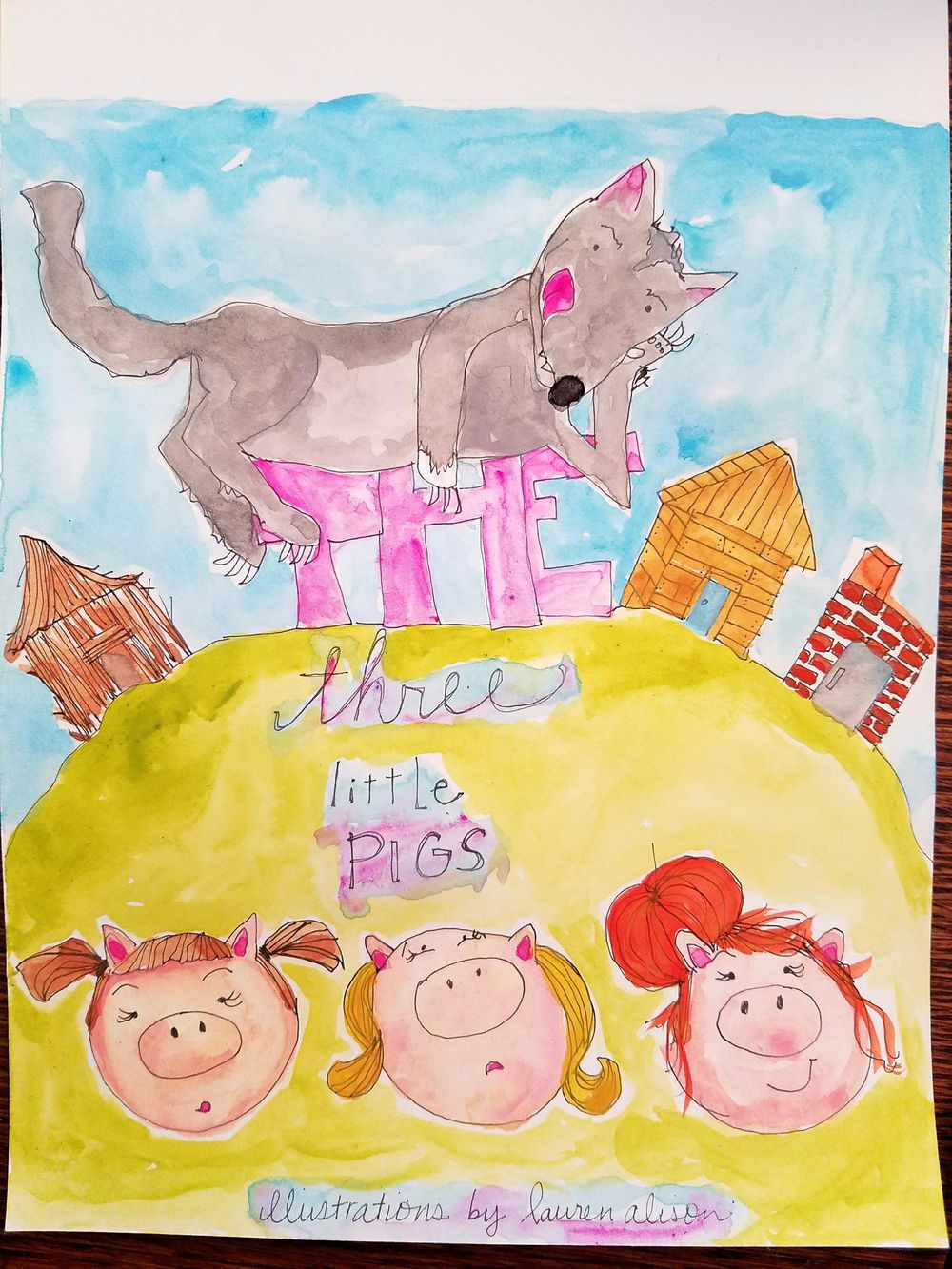 three little (girl) pigs - image 3 - student project