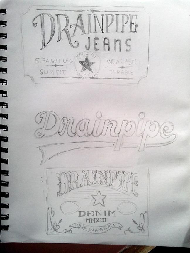 Drainpipe Jeans Label - image 2 - student project