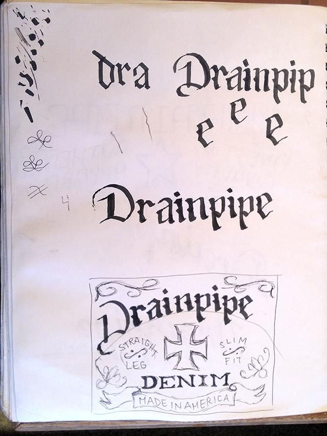 Drainpipe Jeans Label - image 5 - student project