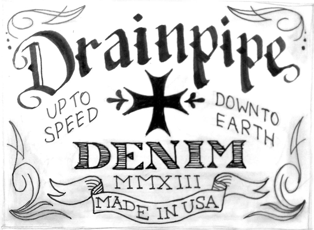 Drainpipe Jeans Label - image 6 - student project