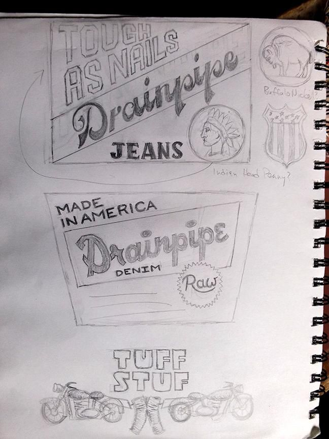 Drainpipe Jeans Label - image 3 - student project