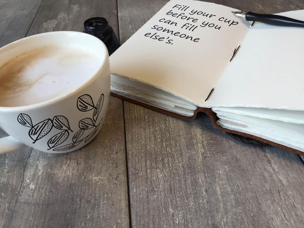 My first coffee mug and journal page - image 1 - student project