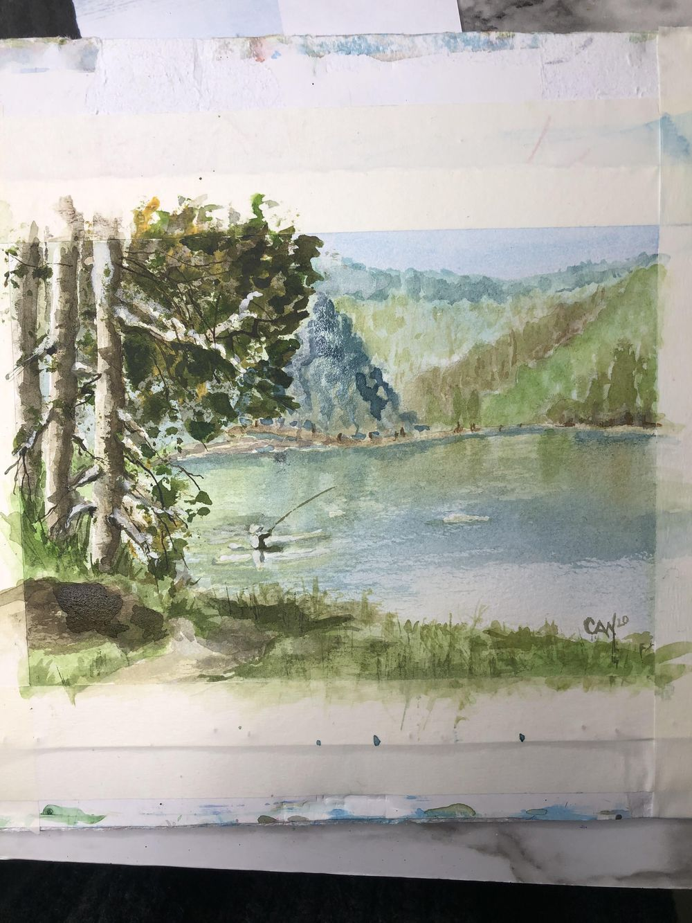 Fly fishing lake - image 1 - student project