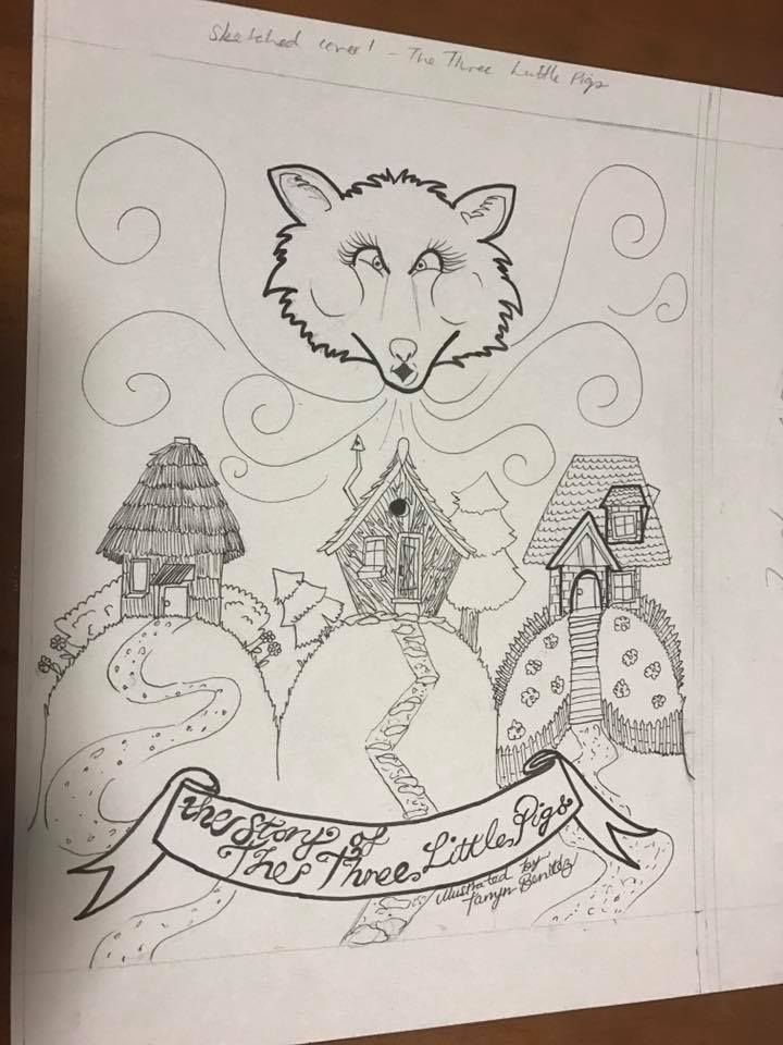 Three Little Pigs two sketches by Tarryn Benitez - image 2 - student project