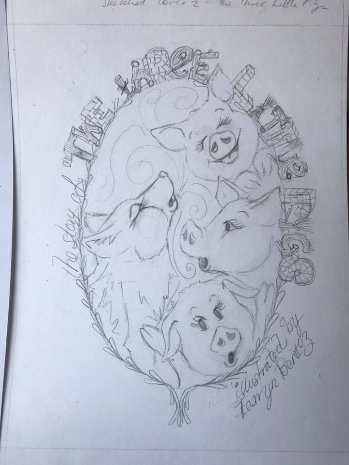 Three Little Pigs two sketches by Tarryn Benitez - image 3 - student project