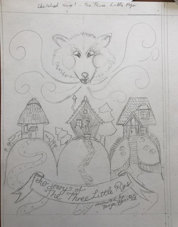 Three Little Pigs two sketches by Tarryn Benitez - image 1 - student project