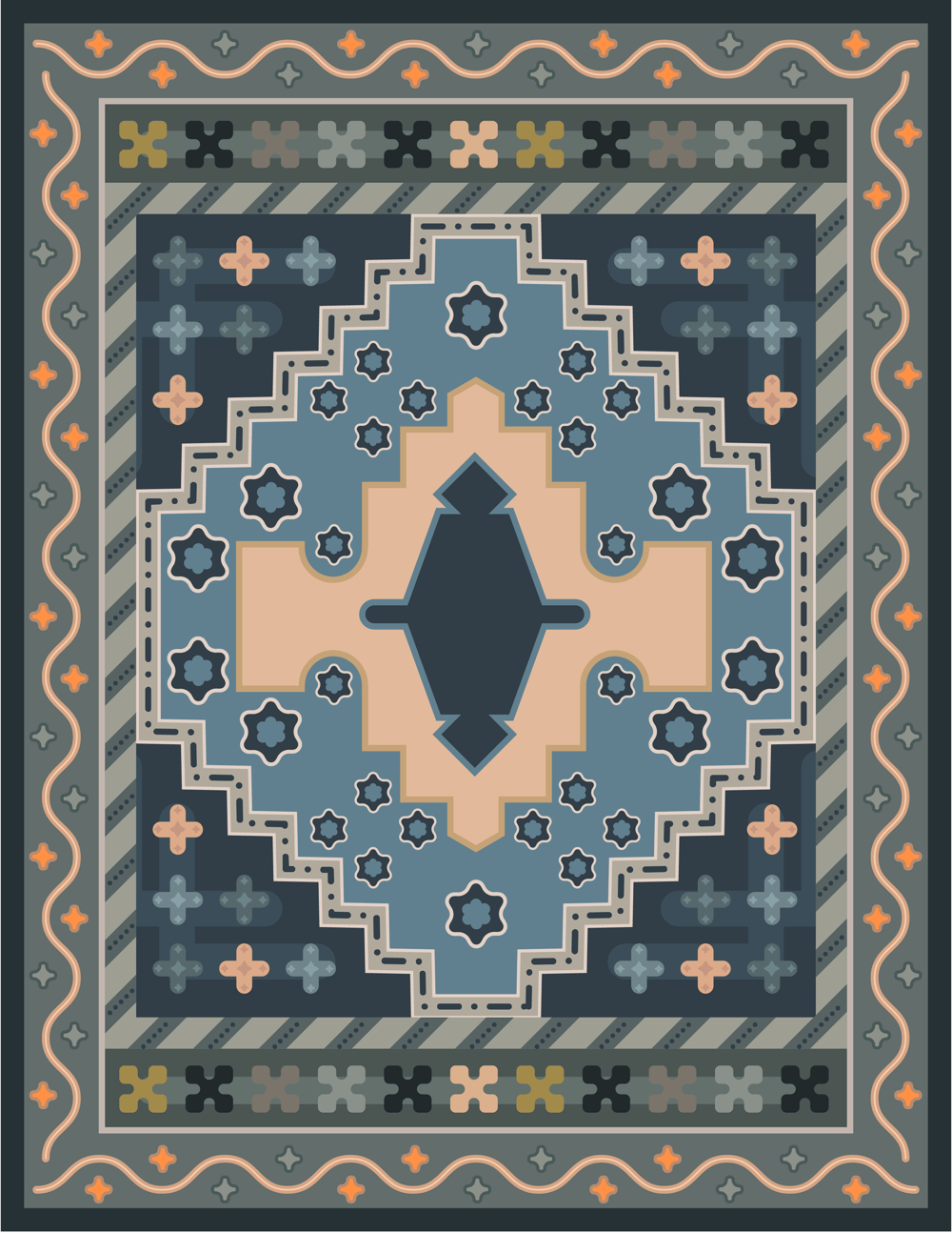 An Oriental rug without the pen tool - image 1 - student project