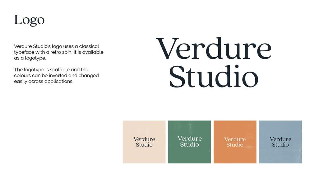 Verdure Studio Brand Book - image 2 - student project