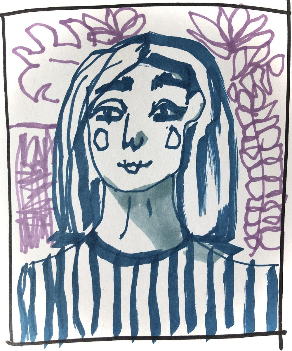 Eyes closed and with a left hand - image 3 - student project