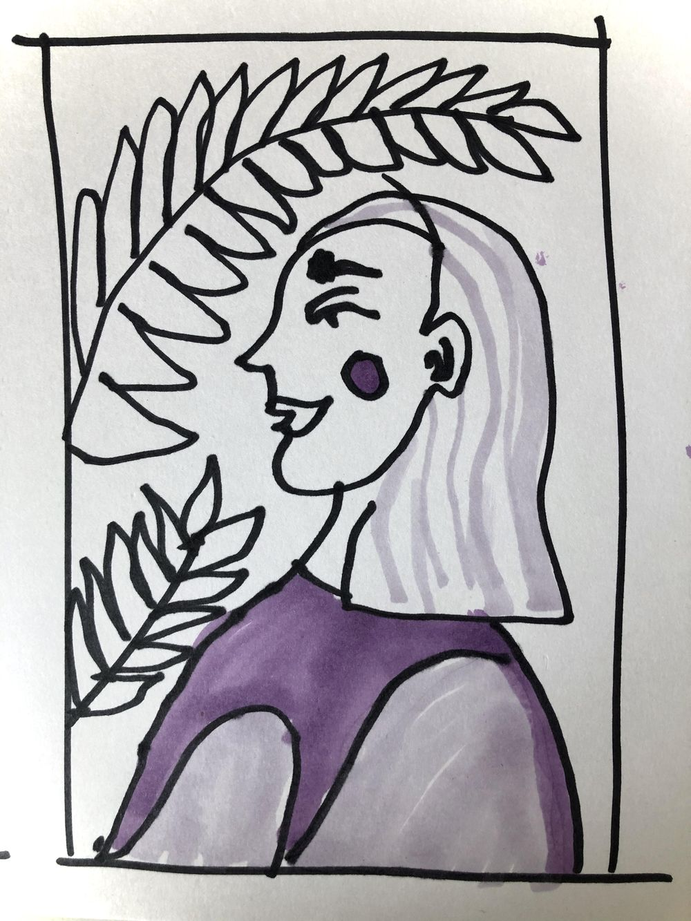 Eyes closed and with a left hand - image 2 - student project