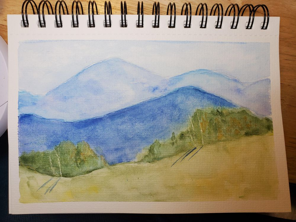 Mountain Ranges in Watercolor - image 1 - student project