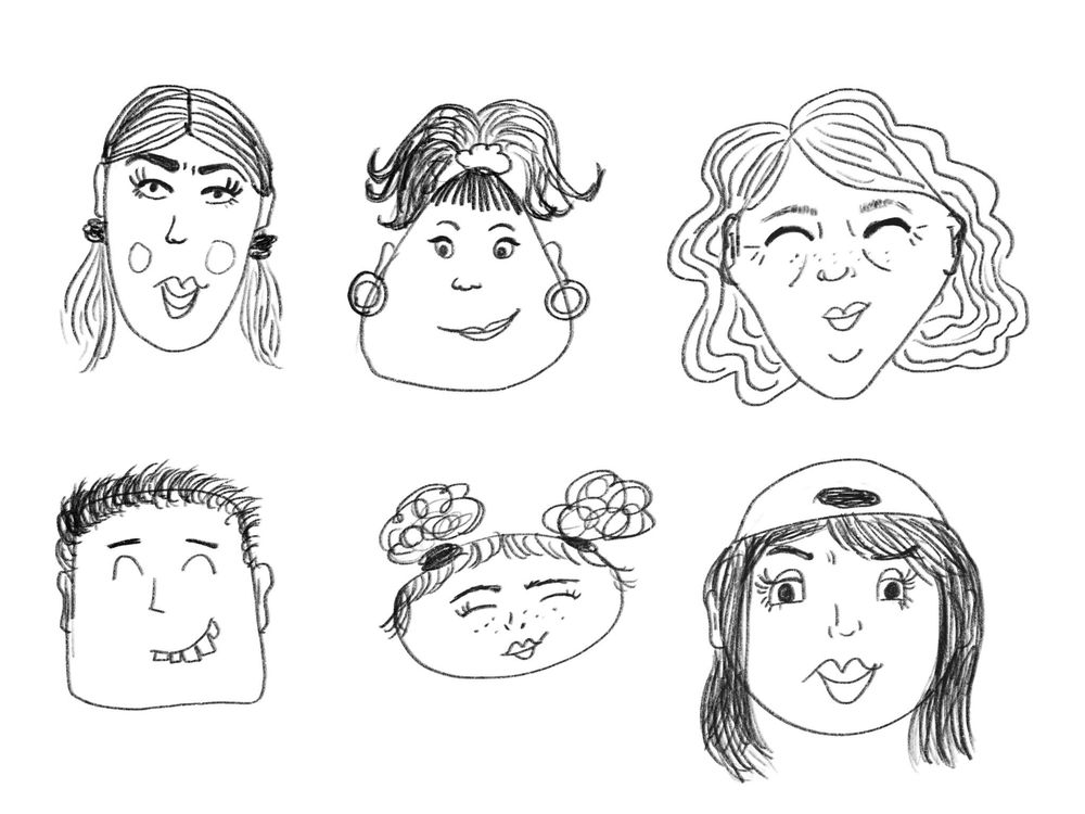 Inspired faces - image 2 - student project