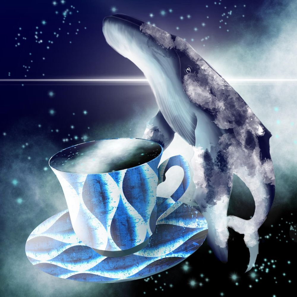 Teacup space whale - image 1 - student project