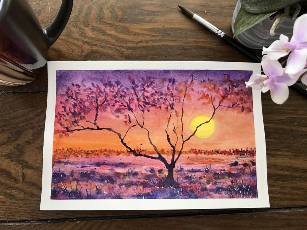 Purple sunset - image 1 - student project