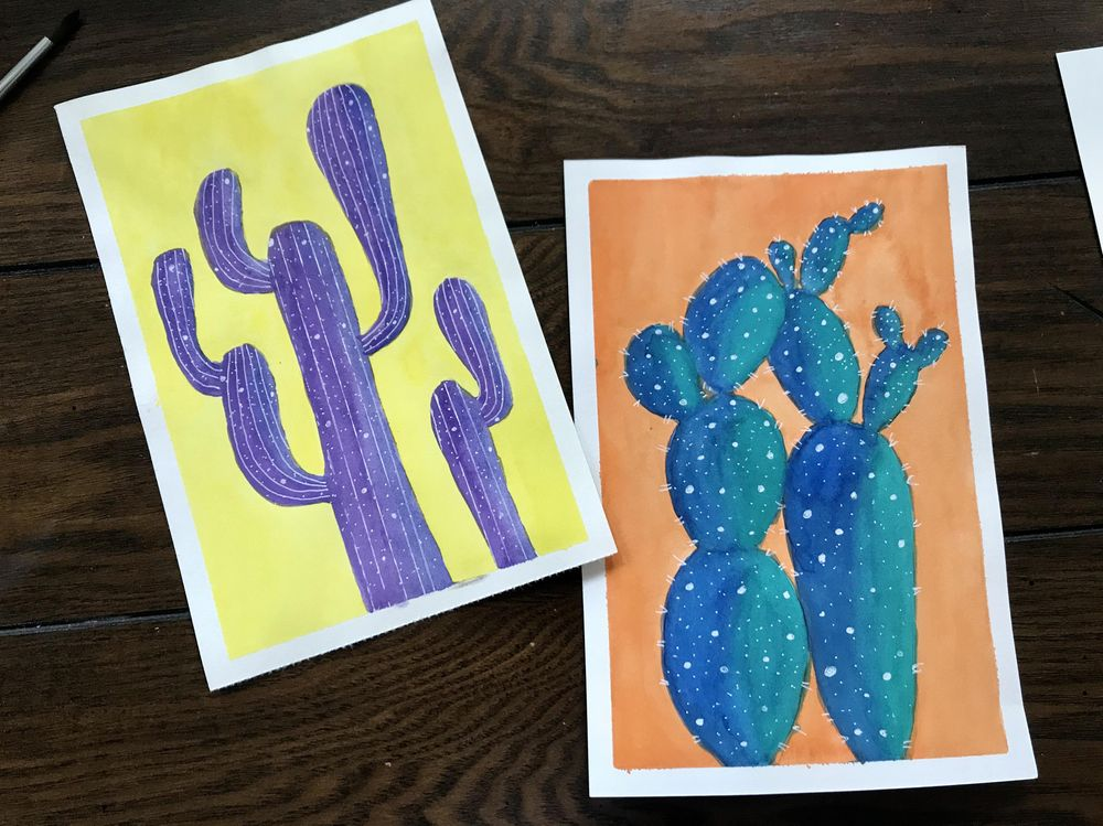 colorful cacti - image 3 - student project