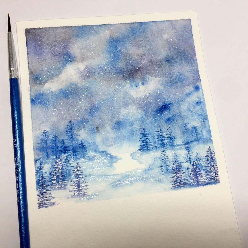 Winter landscape - image 1 - student project
