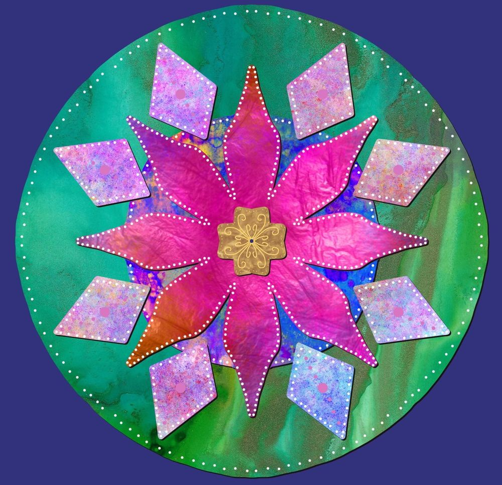 Mandala from plant inspiration - image 3 - student project