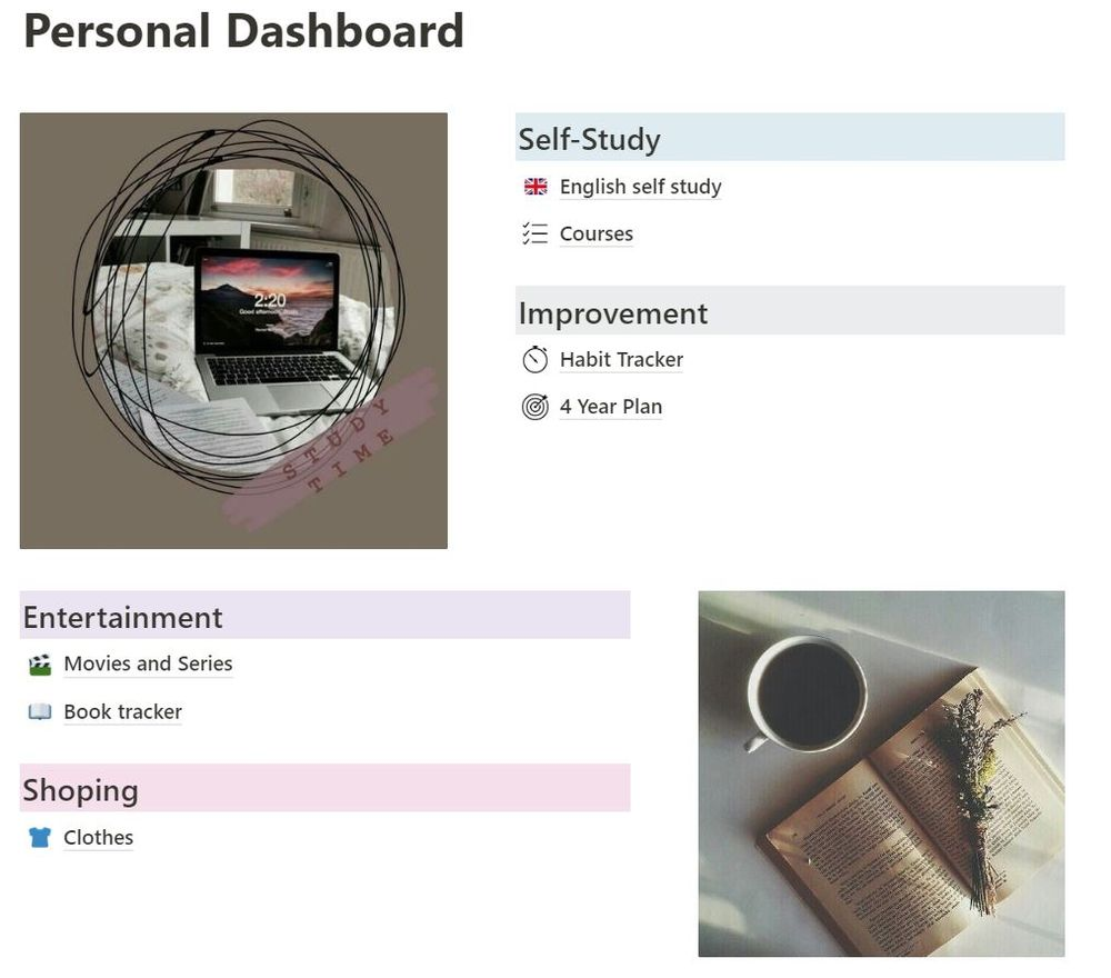 My personal dashboard and workspace! - image 2 - student project