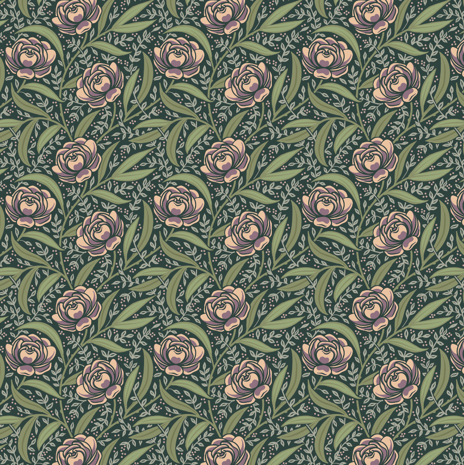 Trailing Peonies and a Cyclamen Pattern - image 3 - student project