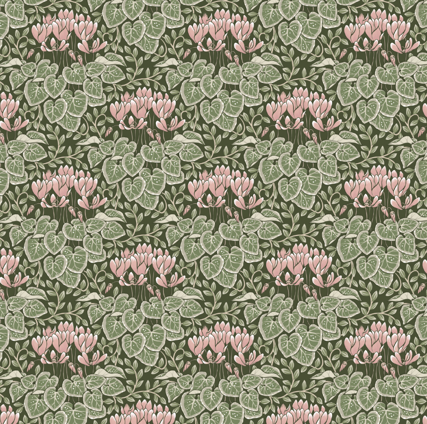Trailing Peonies and a Cyclamen Pattern - image 1 - student project