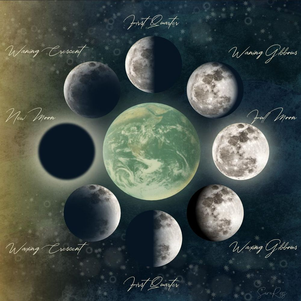 Create a Moon Phase Illustration Using the Transparency Tool - image 1 - student project