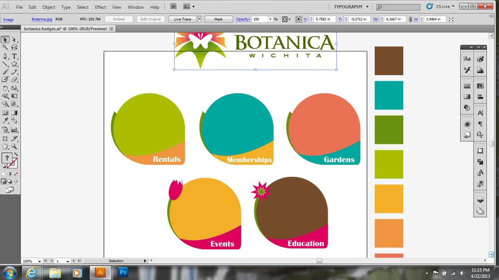 Wichita's Botanica Gardens Icons  - image 5 - student project