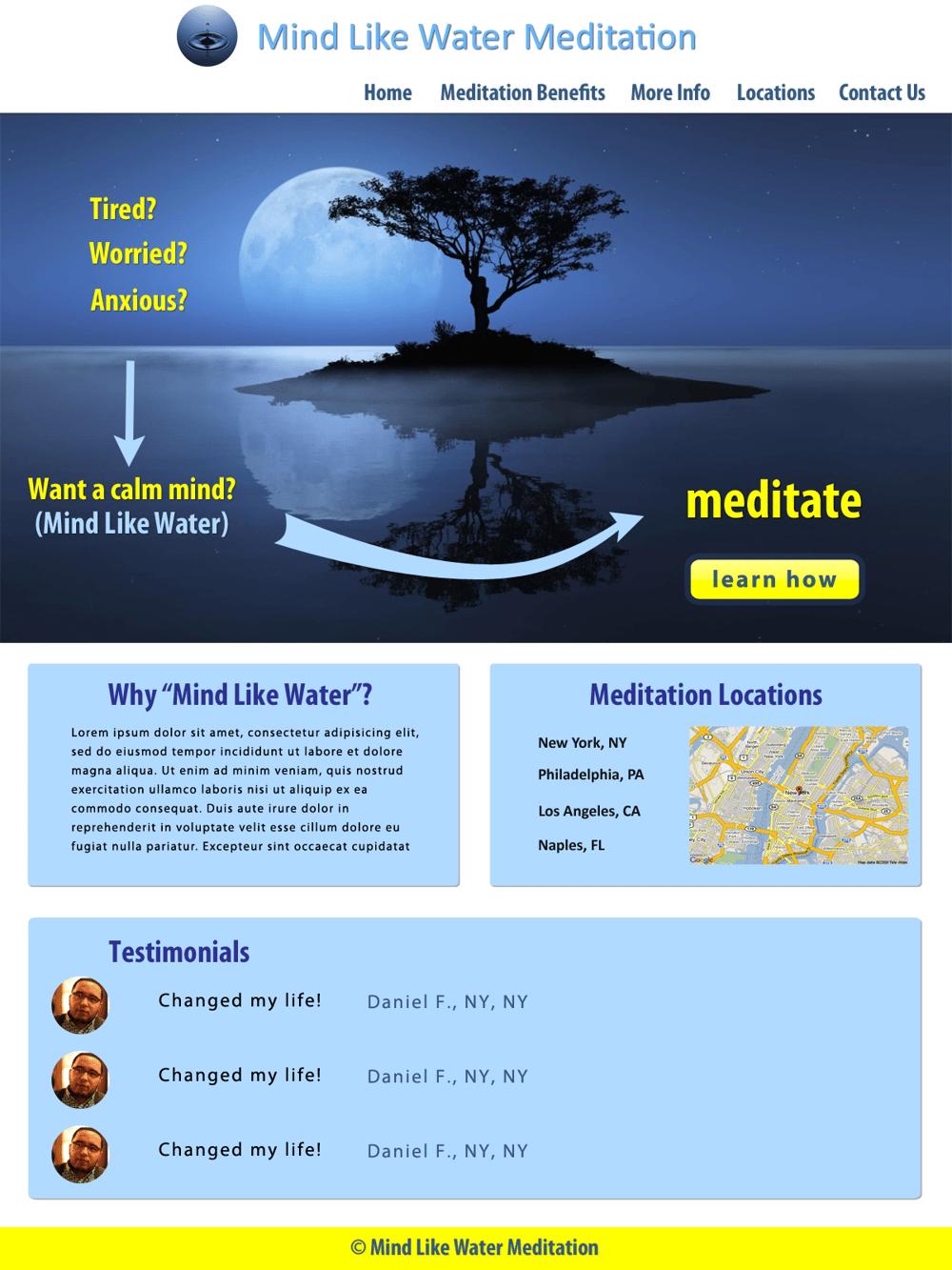 Mind Like Water Meditation - image 1 - student project