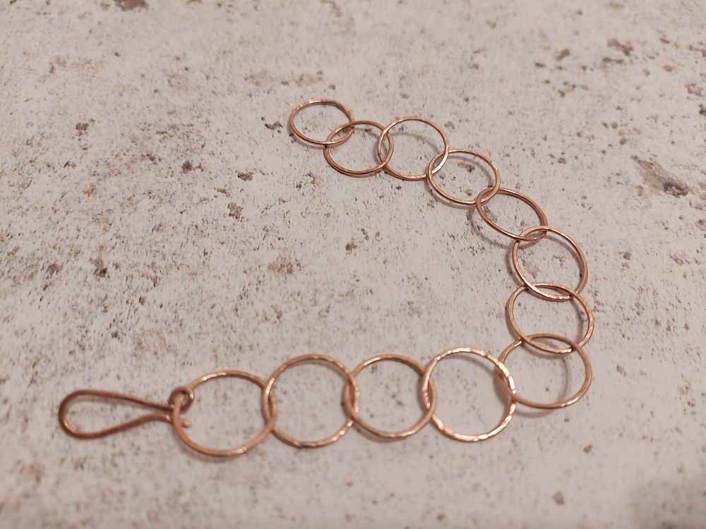 Copper Hammered Chain - image 1 - student project