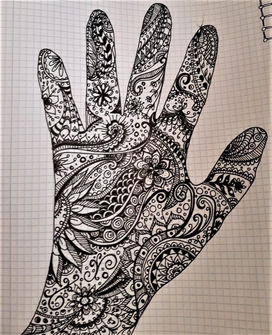 zentangle and watercolor - image 1 - student project