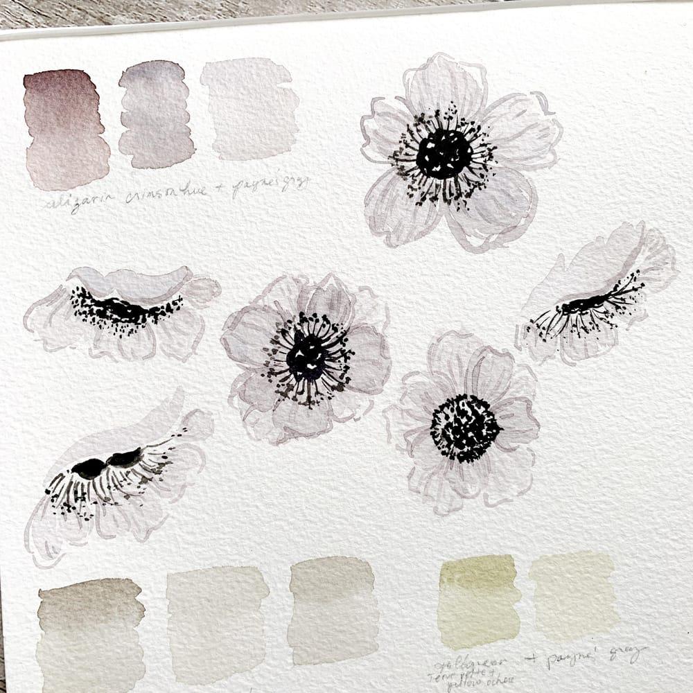 Pretty White Watercolour Florals - image 1 - student project