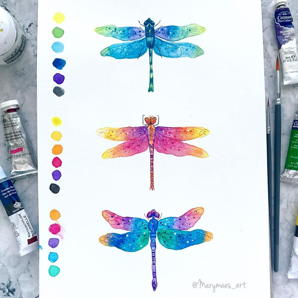 Vibrant Magical Dragonflies - image 1 - student project