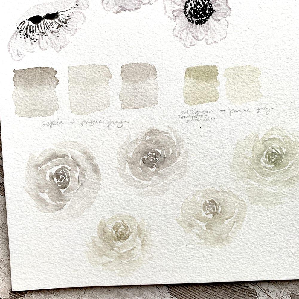 Pretty White Watercolour Florals - image 2 - student project