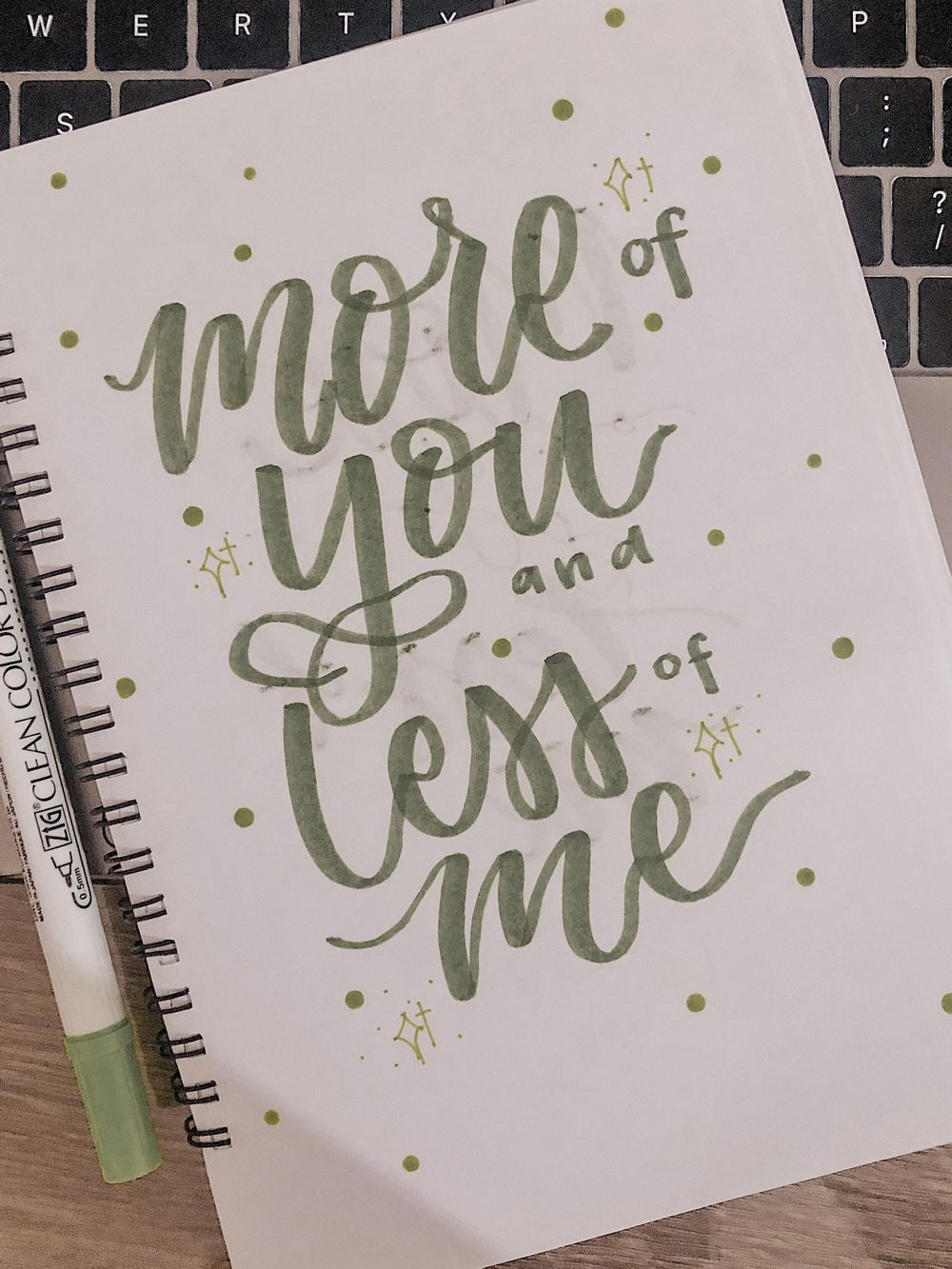 Quote Handlettering - image 1 - student project