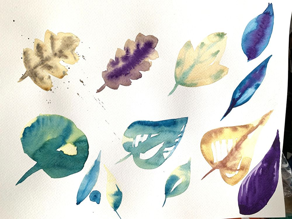Loose Watercolour Florals - image 2 - student project